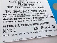 2 x Kevin Hart Tickets, 30th Aug, Birmingham