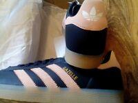 Ladies adidas gazelles brand new boxed uk size 7