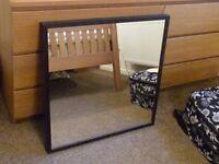 IKEA Black/Brown Square mirror