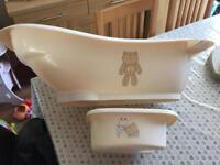 Mothercare baby bath and top&tail bowl