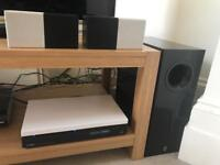 Yamaha sound system with DVD