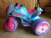 Disney Frozen Electric Trike Motorbike 6 Volt Battery