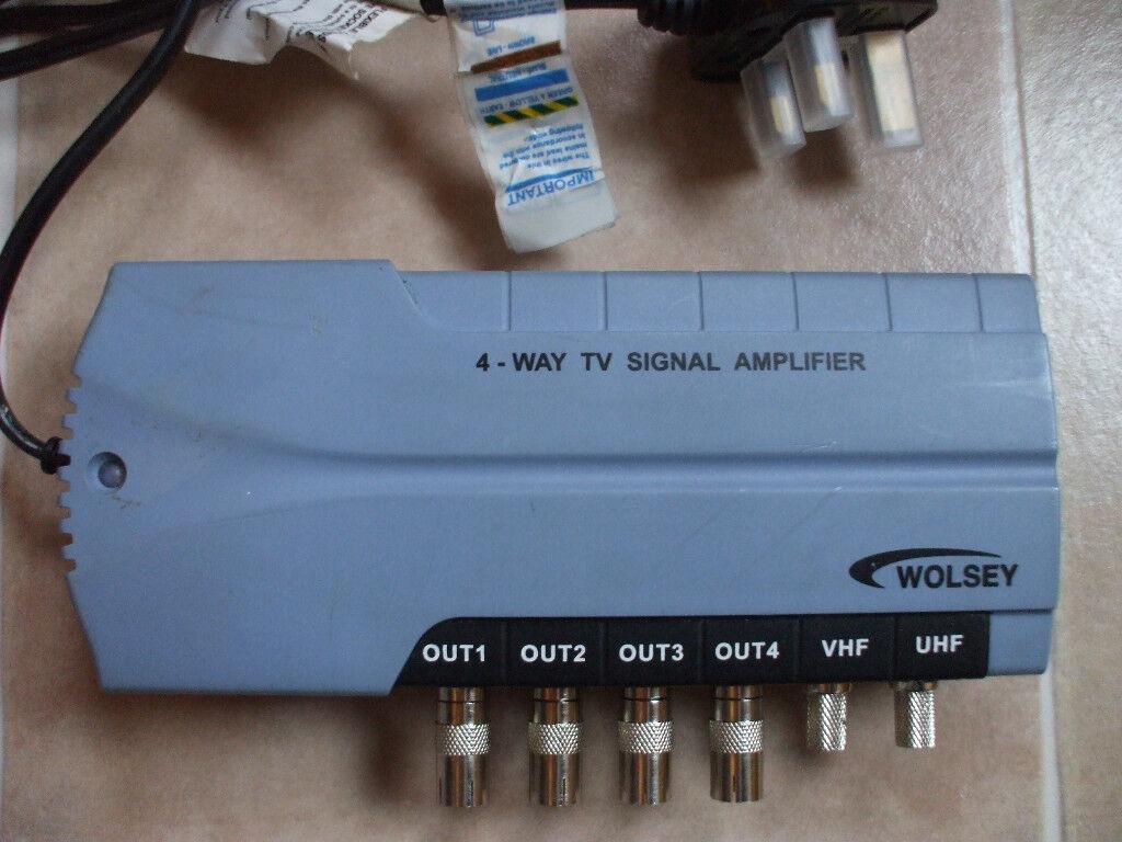 WOLSEY TV BOOSTER 4 WAY DISTRIBUTION SIGNAL AMPLIFIER | in Bonnyrigg ...