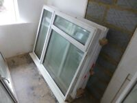 2 White PVC Windows