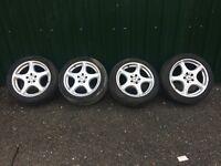 "Mercedes Genuine 18"" Alloy Wheels Good Tires Ref.1"