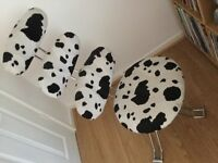 Funky cow print chair