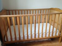 Cot bed with mattress in Excellent condition