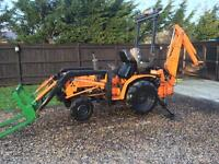Mitsubishi compact 4x4 tractor with Loader digger etc