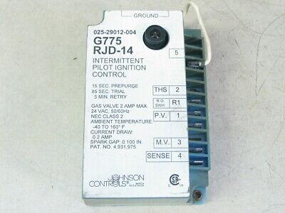 Johnson Controls G775 Rjd-14 Intermittent Pilot Ignition 025-29012-004