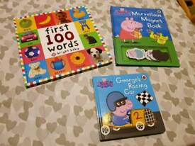 Peppa and first word books
