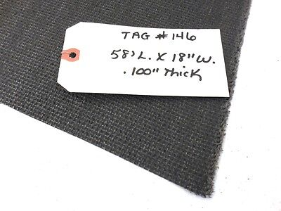 Unknown Brand Conveyor Belt 58 X 18 Interwoven 150 Polyester Black Pvc