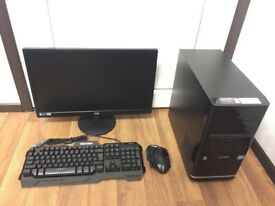 Gaming Computer PC Complete Setup, 22 inch Monitor (Intel i5, 8GB RAM, 250GB HD, GT 530 Graphics)