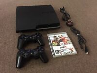 PS3 PlayStation 3 SLIM 320GB + 2x sony gamepad + FIFA 09