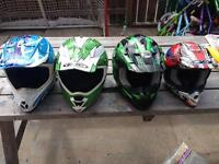 Helmets a XL,L,M and Childs M