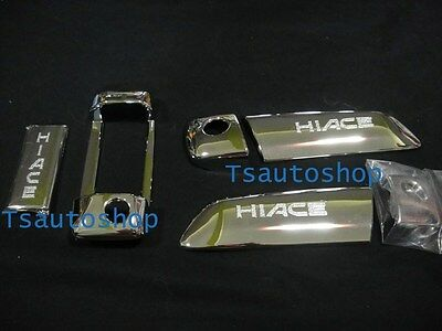 Chrome 3 Door Handle Cover Trim For Van Toyota Hiace Commuter 2005 2013
