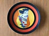 "CLARICE CLIFF Wedgwood plate ""LUGANO"""