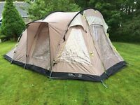 Outwell Nevada M, 5 Person, 2 Bedroom Tent AND Carpet AND Footprint