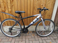 aApollo midnight ladies mountain bike. 17 inch frame. 26 inch wheels. 18 speed. Great Condition