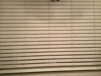 Brand new VENETIAN BLIND, eggshell (cream) faux wood in the box, collect from B76
