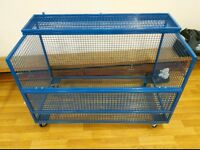 Strong Metal storage cage with wheels for sale, suitable for use at home and work