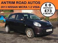 2013 NISSAN MICRA VISA 1.2 ** FINANCE AVAILABLE WITH NO DEPOSIT **