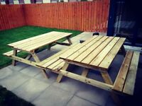 Picnic table 6ft (strong treated timber) bench