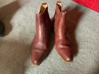 f62ad919b BRASS EASTWOOD MENS BROWN WESTERN COWBOY BOOTS ,UK SIZE 8 used £25