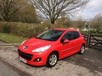 2010 PEUGEOT 207 RED 1.4 PETROL 42000 MILES IMMACULATE CONDITION CAT D