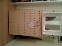 Cupboard, interior shelves