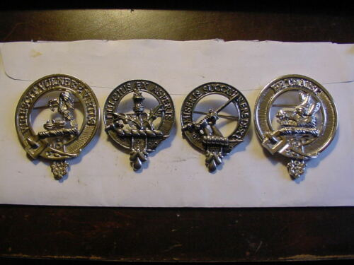 Scottish Clan Crest  Badge Pin Lot