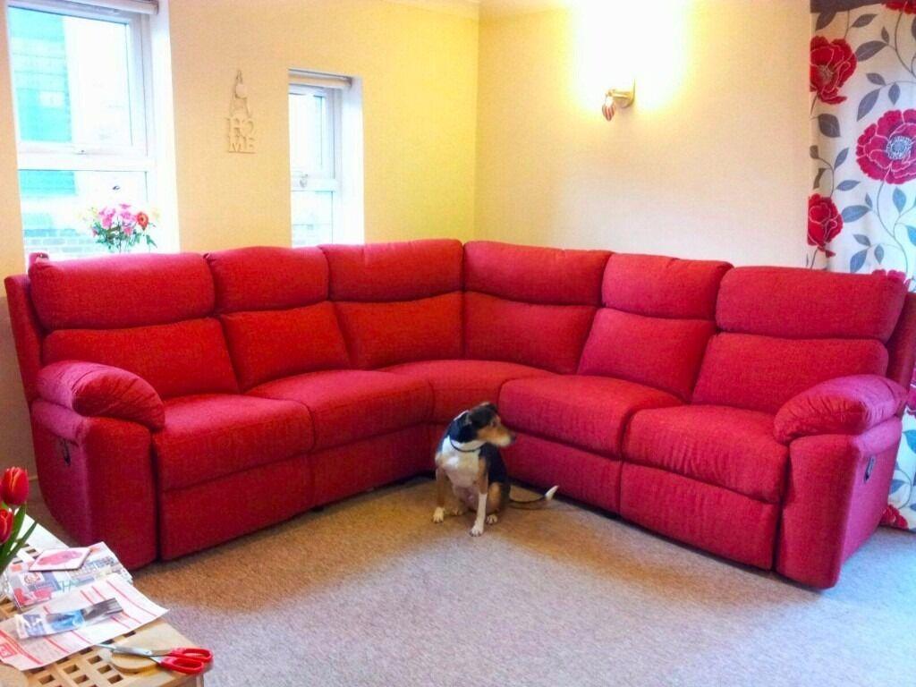 Red Corner Sofa Red Corner Sofa In Neath Port Talbot