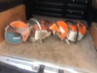 Two Stihl saws