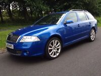 2008 SKODA OCTAVIA VRS 2.0 TDI 170 BHP ESTATE 6 SPEED MANUAL DRIVES SPOT ON LONG MOT