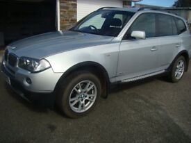BMW X3 2.0D xdrive manual 2009 complete with towbar in excellent condition