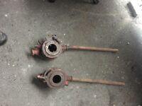 Pair Of Large Industrial Pipe Threaders - W-R