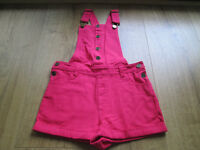 LOVELY GIRLS PINK PLAYSUIT / DUNGEREES - AGE 5-6 - EXC. COND.