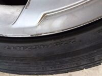 alloys wheels with tyres from audi a4
