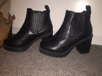 Black Boots Size 4