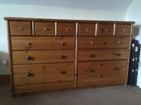 Pine double chest of drawers from John Lewis
