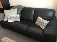 DFS leather sofa and armchair in great condition