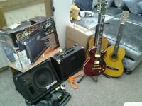 Guitars and amps job lot package