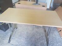 Beech foldaway office table