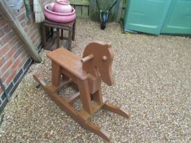 DANFF wooden rocking horse
