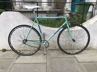 Bianchi Fixed Gear Bike with Campagnolo Crank
