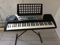 Yamaha prs-170 electric keyboard. Comes with an stand and a Yamaha travel case.