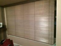 2 X Quality wooden Venetian blinds washed grey £100