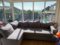 Used grey corner sofa