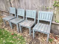 4x Free Garden Wooden Chairs