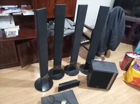 5.1 LG Home theater audio system comes with DVD player, USB drive.