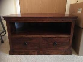 Very heavy solid wood tv stand